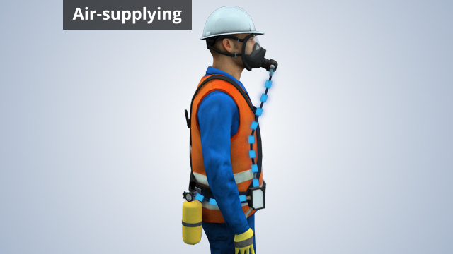 Air-supplying respirators work by supplying the wearer with fresh, breathable air that's separate from the air in the surrounding environment.
