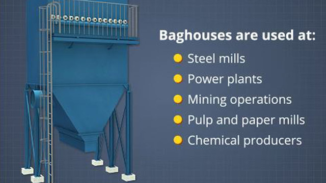 Baghouses are used in many different applications in many different industries