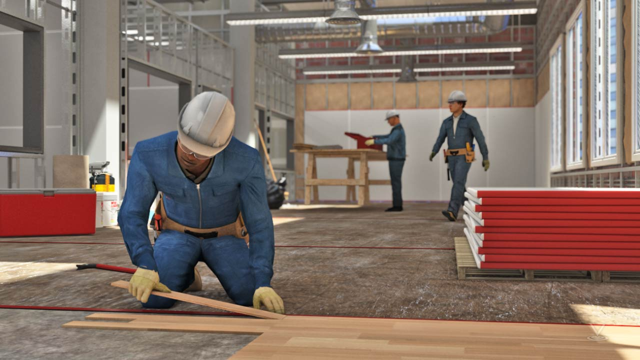 Carpentry typically occurs in a construction area.