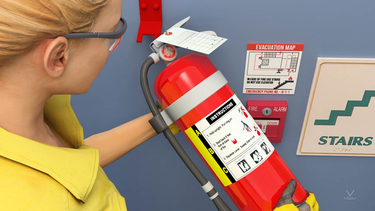 Using a fire extinguisher is fairly simple, however training is always recommended