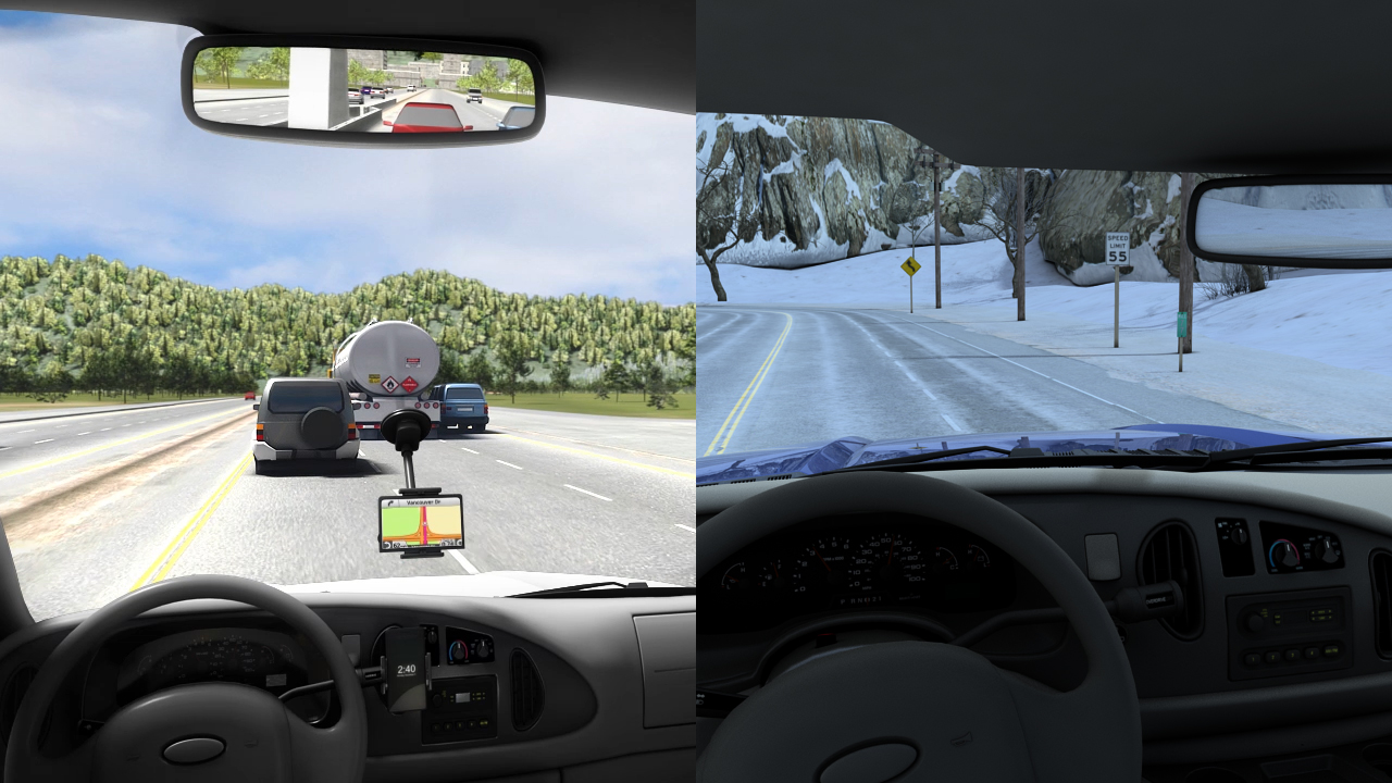 Loss of control events can happen in any weather conditions: sunny and dry or cold and icy.