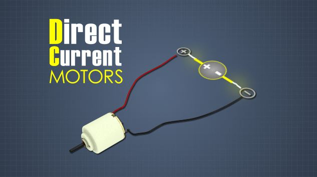 DC motors are electrical motors powered by direct current, or DC.