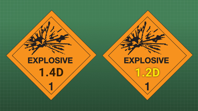 Explosives of the same compatibility group but different divisions may be transported together if the combined shipment is transported as the lowest division.
