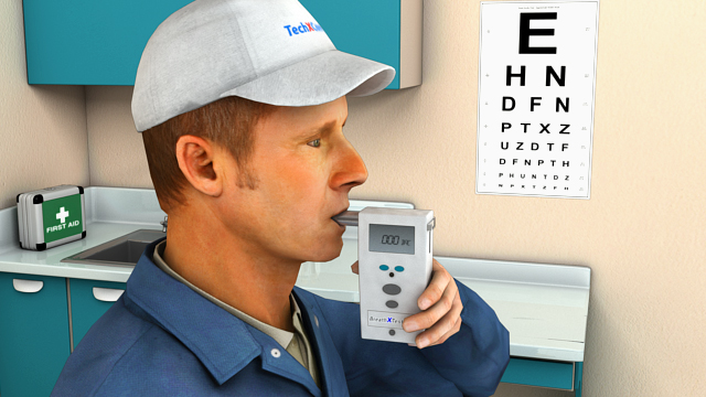 An evidential breath testing (EBT) device can be used for screening and confirmation tests
