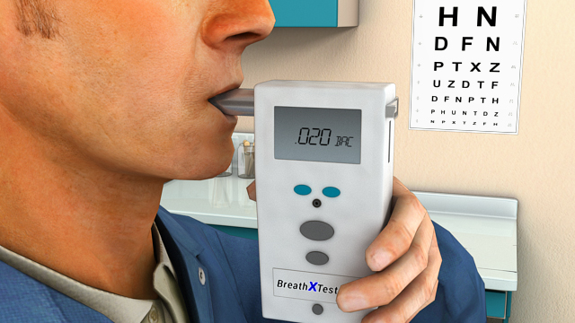 An Evidential Breath Testing (EBT) device must be used for alcohol confirmation tests.