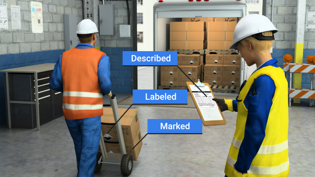 Carriers must ensure that the shipper or offeror has correctly described, labeled, and marked all hazardous material packages.
