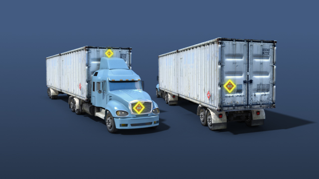 Generally speaking, transport vehicles used to transport hazardous materials must be placarded on both sides and both ends.