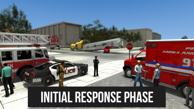 "The ""initial response phase"" includes those first few minutes after emergency responders arrive at the scene of an incident."