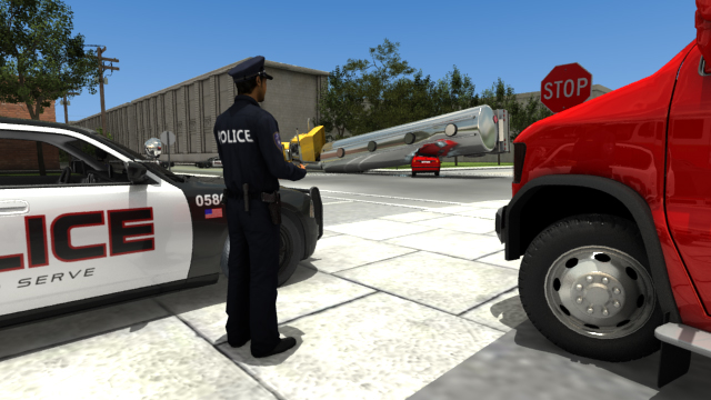 If a law enforcement officer were to encounter an overturned tanker trailer displaying a hazardous material placard, they would use the DOT ERG to identify the hazardous material and determine the best initial response, until hazmat personnel are available
