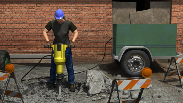 3D render of how workers near electrical hazards are likely to obtain an electrical injury.