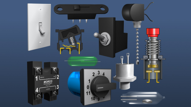 There are many varieties of switches, but they can be classified and understood using a couple of different categories. One way to classify them is by how they behave when they are actuated, they can be called maintained or momentary.