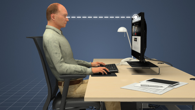 3D Render of Ergonomics for Office Environments Training