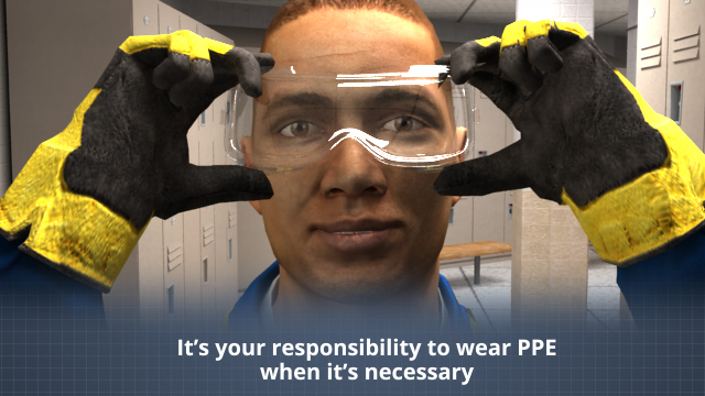 Wearing proper PPE at work can help you avoid most or all eye injuries