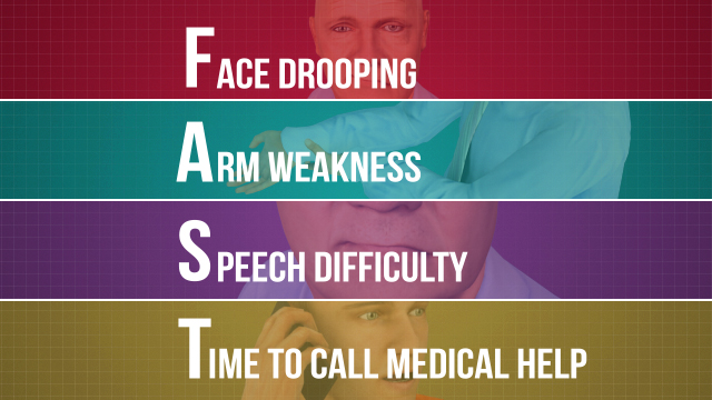 "The American Stroke Association recommends the F.A.S.T. (""fast"") method for detecting strokes and calling for emergency medical assistance."