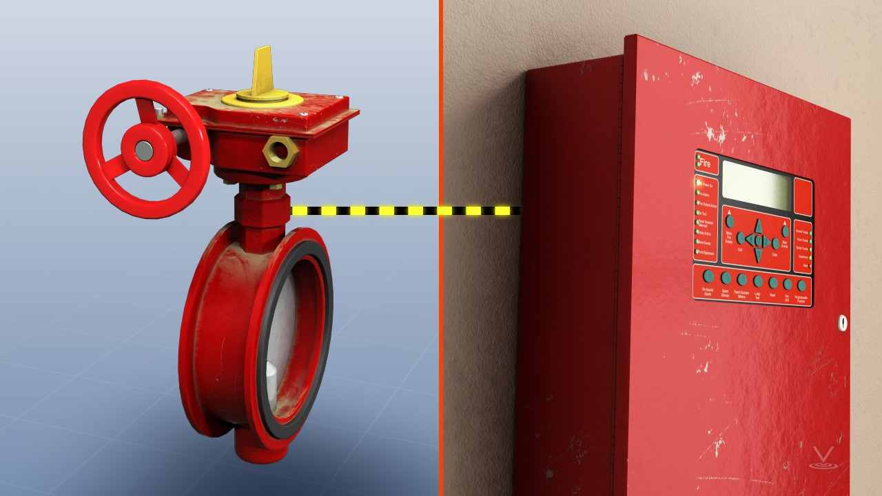 A tamper switch detects when the valve is closed and sends a signal to the fire control panel when this occurs.