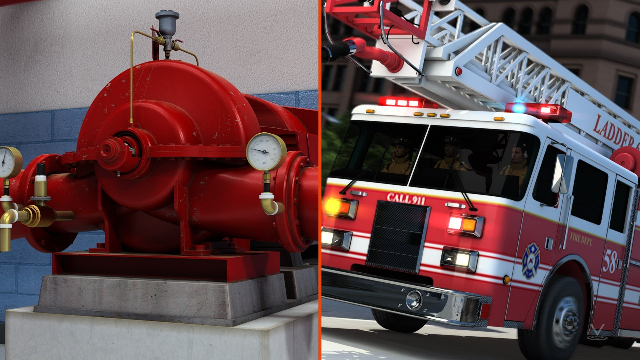 A fire pump must provide enough pressure to pump water when firefighters respond to an emergency.