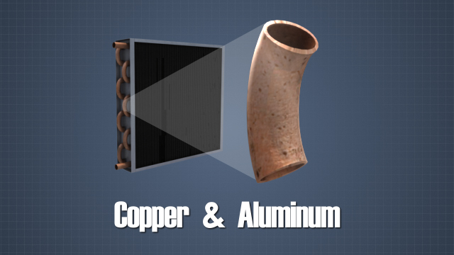 Copper and aluminum are used because they are both very good conductors of heat.