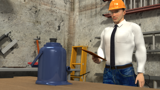 3D Render of Hand and Power Tool Safety Training