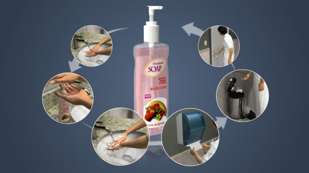 3D Render of Hand Washing and Hygiene Training