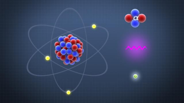 Unstable atoms can decay by emitting alpha particles, beta particles, or gamma rays.