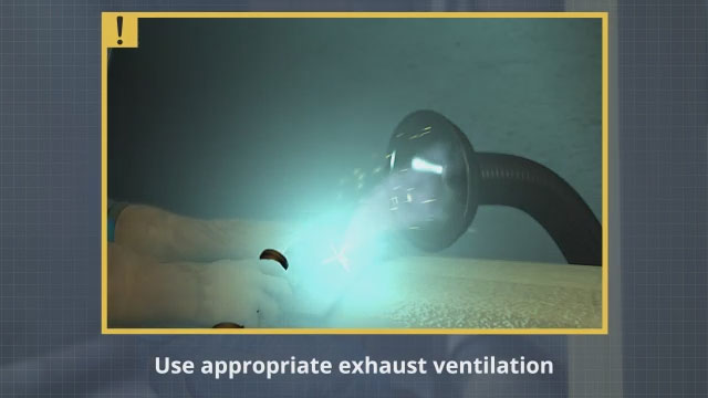 To control welding fumes, consider using appropriate exhaust ventilation.