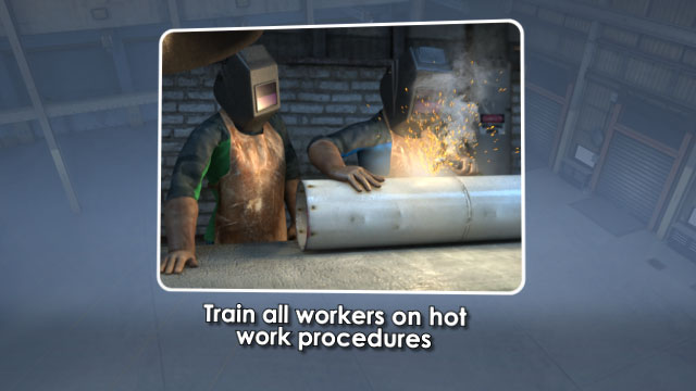 3D Render on Training All Workers on Hot Work Safety