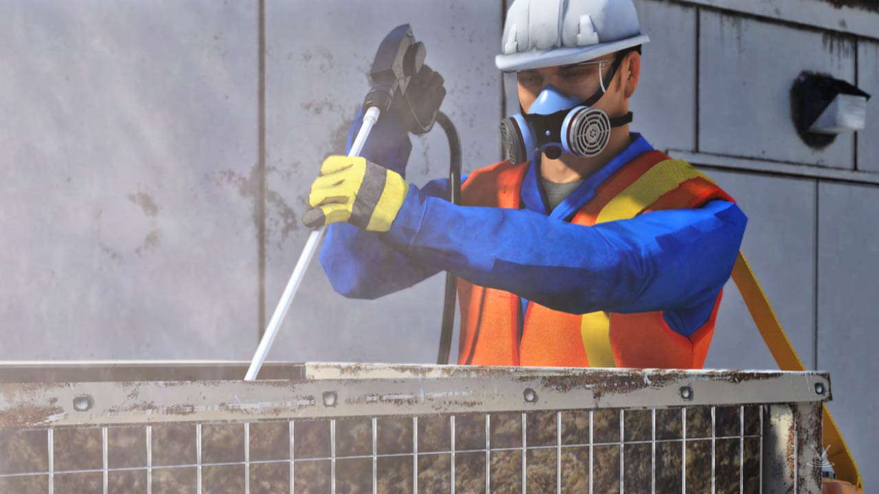 When using a pressure washer to clean a heating or cooling coil you should wear the proper PPE