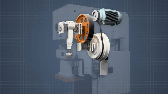 MPPs transmit force mechanically via a flywheel, crankshaft, and clutch.