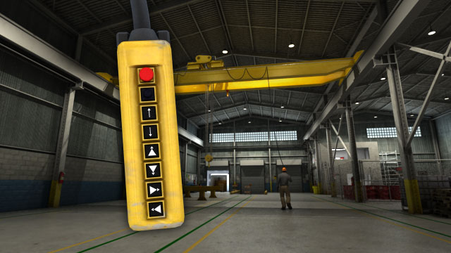 Industrial overhead cranes have controllers that give the operator control of all of the crane movements.