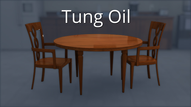 Tung oil is a natural oil that has been used for hundreds of years as a preservative, and it still finds limited use today, mostly for finishing furniture.