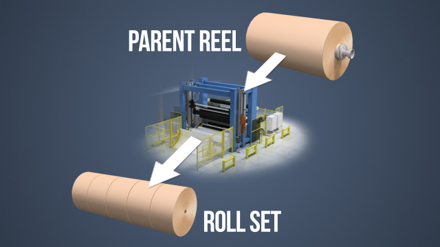 The purpose of a winder or rewinder is to convert the large diameter parent reels that are produced on a paper or board machine into finished roll sets ready for converting or shipping.