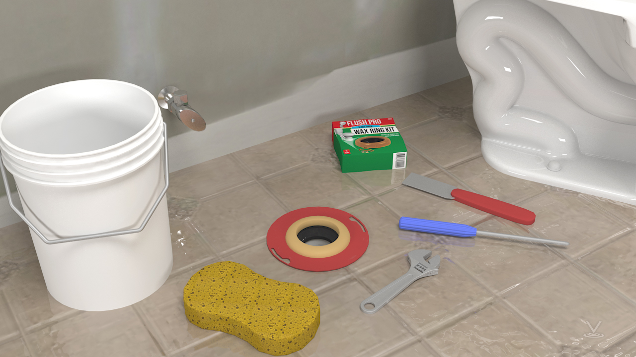 The installations of toilets and urinals require the use of wax rings to seal between the base and the flange attached to the waste line in the floor.