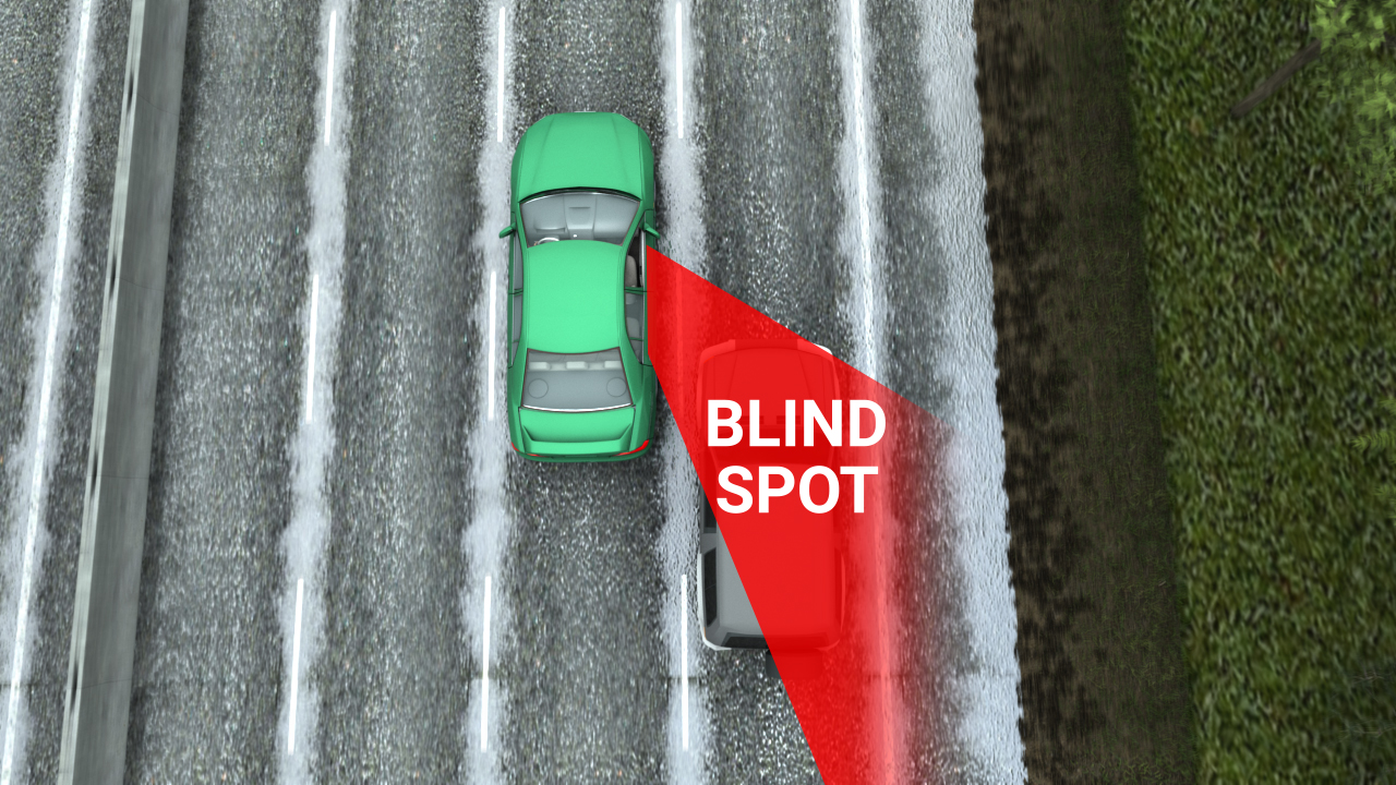 Sideswipe crashes may result from intentional lane changes when a driver misjudges a gap in traffic or because vehicles are in a blind spot.