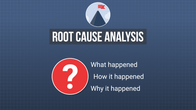 The goal of any root cause analysis is to find out what happened, how it happened, and most importantly, why it happened.