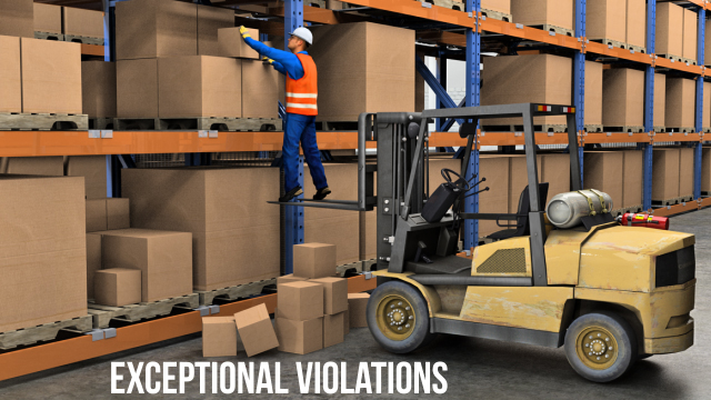 Exceptional violations are isolated incidents that are not typical behavior, so they can be difficult to predict or correct.