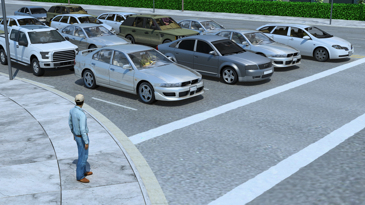 You should always anticipate that a pedestrian may try to cross the intersection when they do not have the right-of-way.