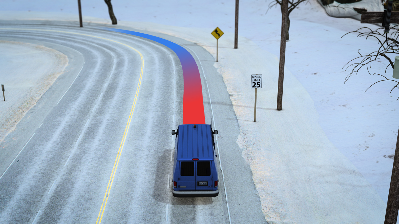 Reduce your speed when entering a tight curve, especially if your vehicle has a high center of gravity, such as a truck or van.