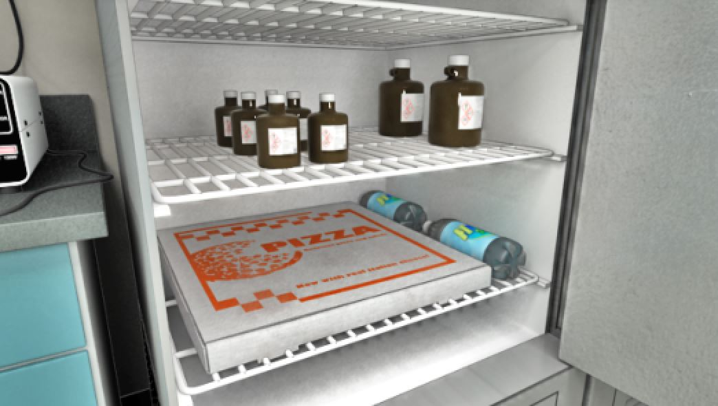 Refrigerators used to store chemicals should not be used to store food or beverages.