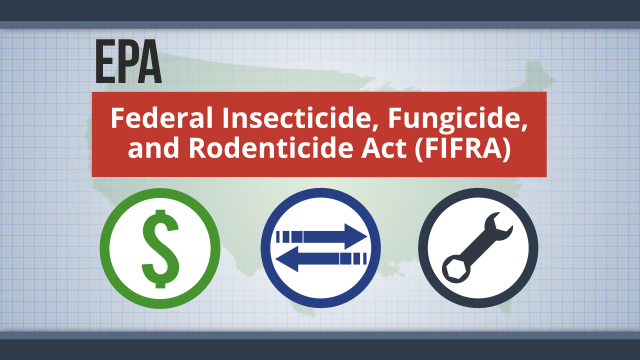 In the U.S., the EPA administers the act that governs the sale, distribution, and use of pesticides.