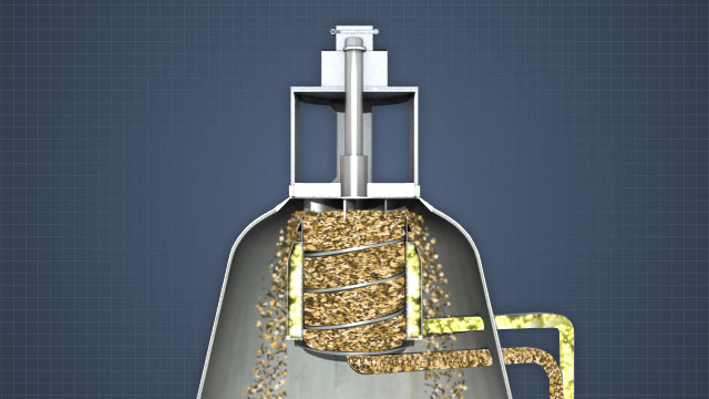 A vapor phase digester top separator separates chips from liquor. The chips go the digester and the liquor is sent to be used in the chip transport loop.