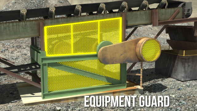 Guarding provides a physical barrier between workers and potentially hazardous machine motions or actions.