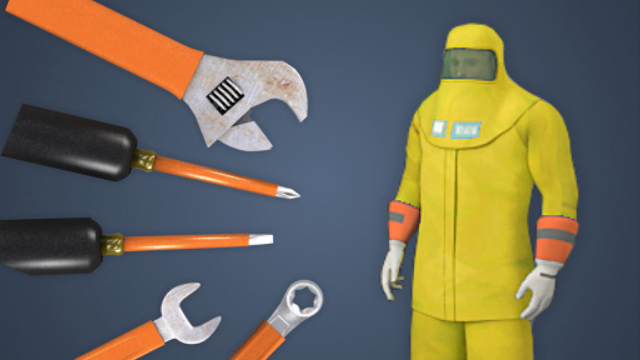 Obtain properly rated electrical tools, components, and personal protective equipment (PPE) for the job.
