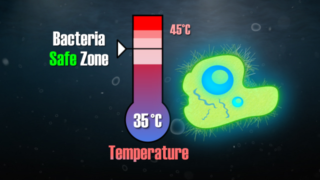 Aerobic microorganisms perform best around 35 deg C (95 deg F).