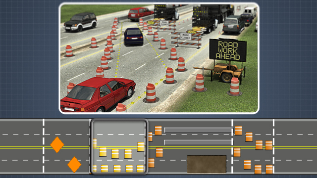 Each work zone has 4 areas - an advance warning area, transition area, activity area, and termination area