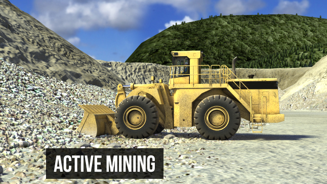 Active mining areas of the pit should be examined to ensure there is sufficient room for excavation equipment to operate safely, and that all banks and walls are free from overhanging material, undercut areas, and other signs of sliding or toppling materia