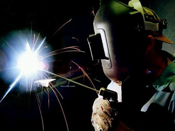 For both practical and safety reasons, use a relatively low voltage in welding circuits.