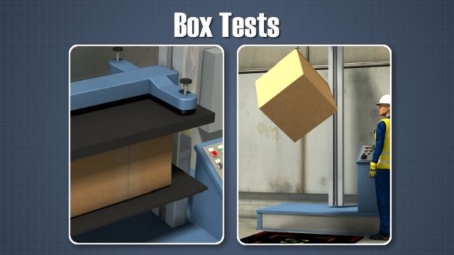 Two tests which can be used to predict the performance of corrugated boxes are  the box compression test (BCT) and the box drop test