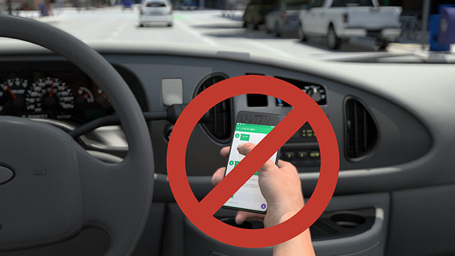 Never text or read a text message while driving.