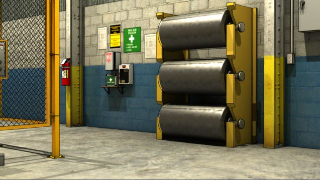 3D render of conveyor belt storage
