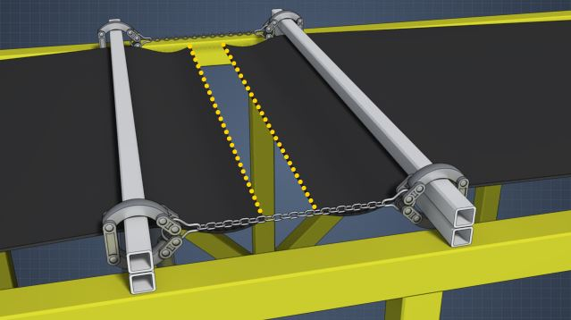 3D render of lacing a belt